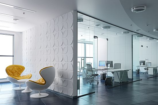 Creative ergonomics chairs in an open office