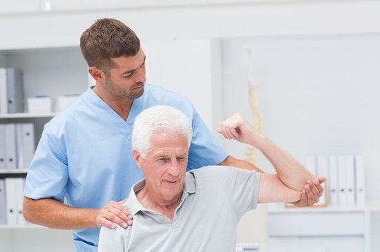 A physical therapist is trying to treat his patient