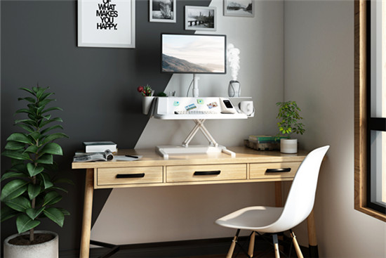 Stylish Electric SitStand Workstation for home office