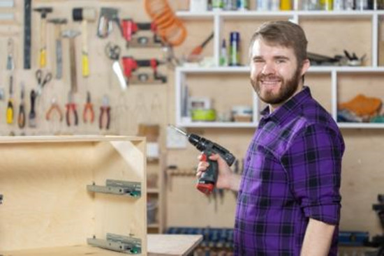 A man is enjoying DIY