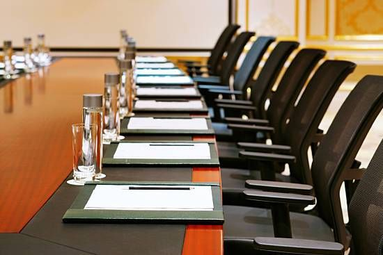 A traditional meeting room design