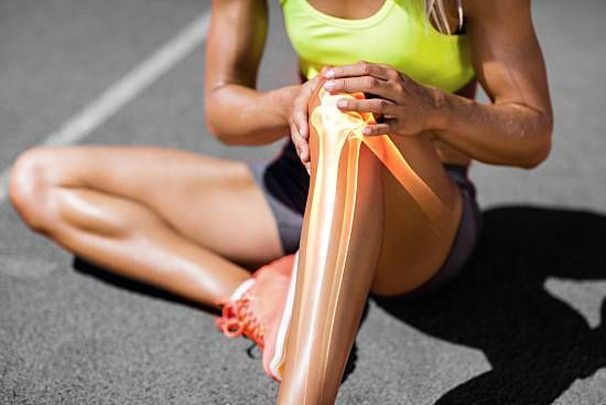 An athlete with knee pain