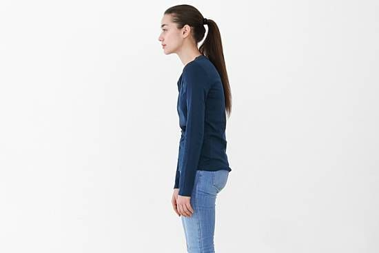 Woman with poor posture