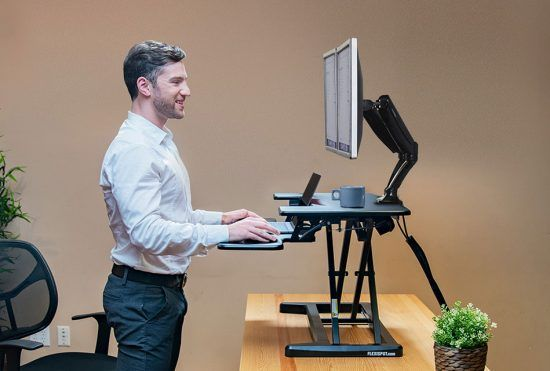 work at standing desk