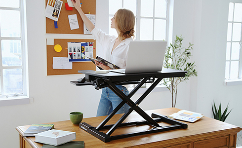 Desktop Dimensions: 28.4''x 16.3''  Keyboard Tray Dimesions: 28.4'' x 12.1''  Height Adjustment Range: 4.7'' - 19.7''  Weight Capacity: 33lbs(Desktop), 4.4lbs(Keyboard Tray)