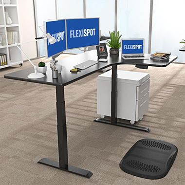 L-Shaped Electric Height Adjustable Desk